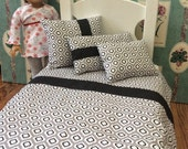 """American Girl, Our Generation 18"""" Doll Bedding Modern Grays Theme"""