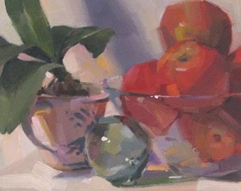 "Art painting still life ""A Coast Memory"" original by Oregon artist Sarah Sedwick 10x10"""