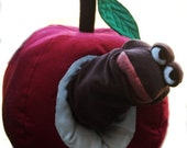 Henry Worm Puppet in Giant Apple