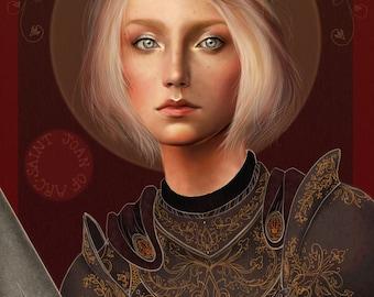St. Joan of Arc Print/ 8x10 Fine Art Print