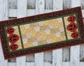 Quilted Table Runner - Jack-O-Lantern (HTRF)