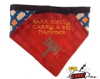 Thor Avengers-inspired reversible pet bandana