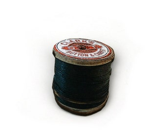Black Cotton Spool Brooch, Wooden Thread Spool Illustration, Wood Jewelry, Bobbin Brooch