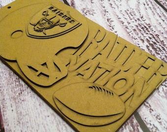 Football Scrapbook - Oakland RAIDERS, Team Spirit, custom Sport scrapbook chipboard album BLANK Raw 5pg