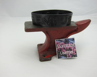 Leather GENIUS Wristband - Black