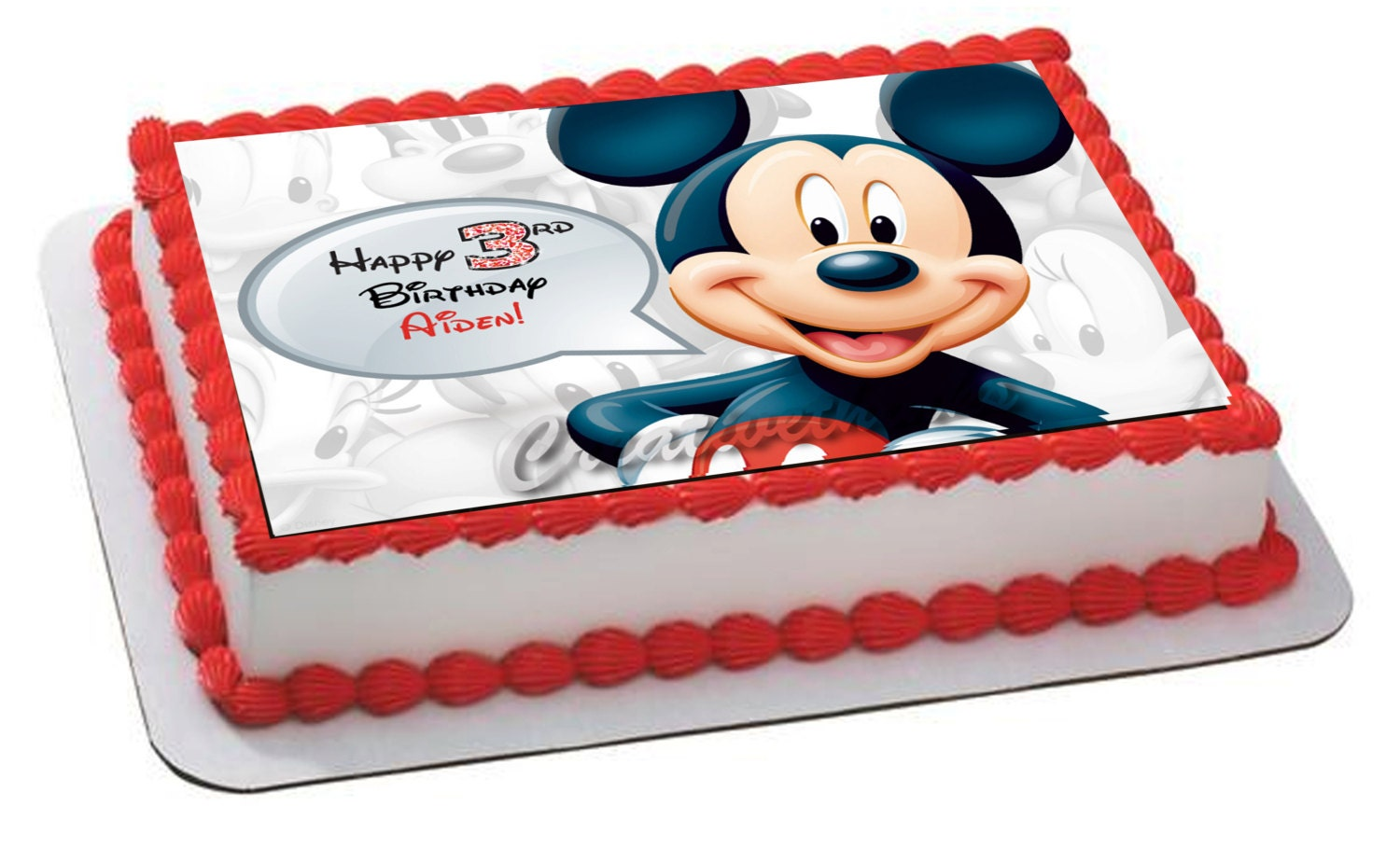 mickey mouse sheet cake mickey mouse themed edible frosting topper edible icing 5887