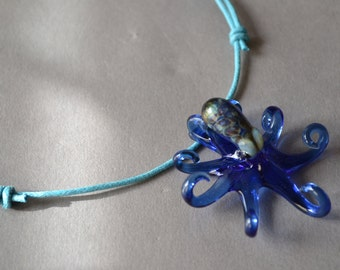 Royal Blue Octopus Pendant
