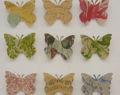 Calvi - paper butterfly decorative push pins - made to order