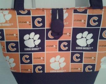 Clemson Tigers Purple Orange Bag Purse