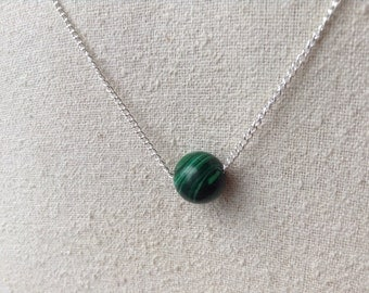 Malachite and Silver Necklace