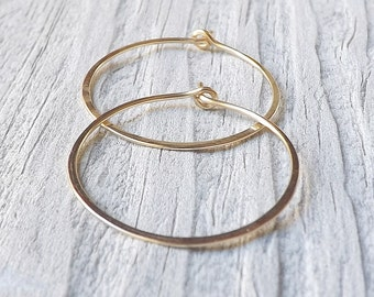 Gold Hoop Earrings Medium Hoops Gold Filled Earring Eco Friendly minimalist jewelry, gift for Women, jewelry gift for her
