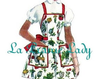 Repro Vintage Full Apron 50's PDF Pattern No 27 Available in M-L-XL