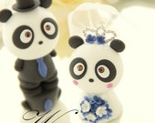 Panda wedding cake topper---912