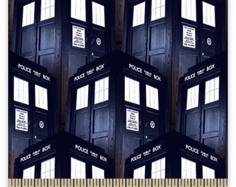 Doctor Who Tardis Fabric in stock and ready to ship
