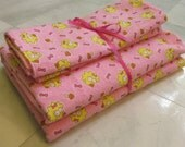 Pink Baby Maggie Receiving Blanket and Burp Cloths Set