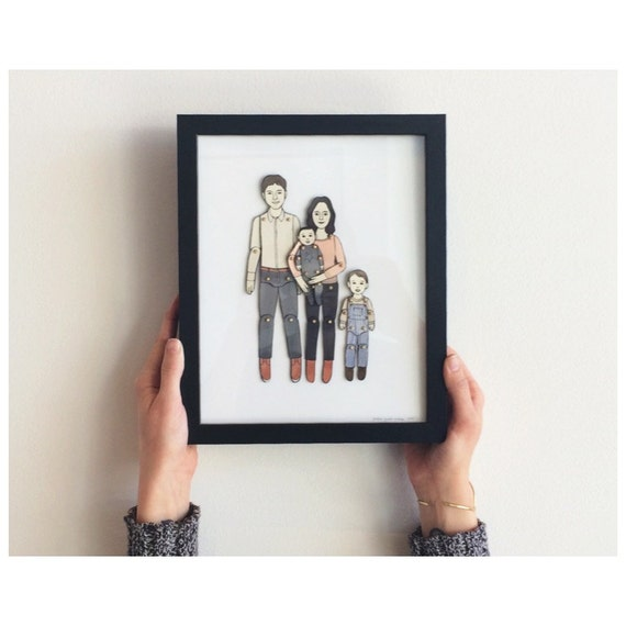 framed paper doll portrait out of stock available spring 2017