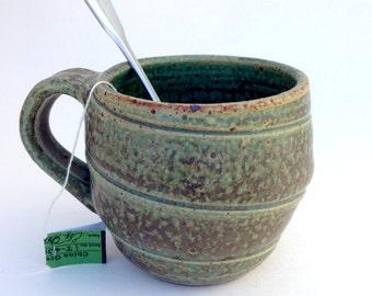 Swirl Stoneware Turquoise Mug
