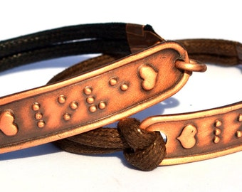 LOVE Bracelet in Braille....Braille Bracelet....Jewelry in Braille