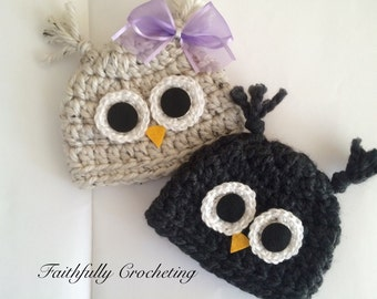 Newborn twin hats.. Boy girl twin hats.. Photography prop.. Ready to ship