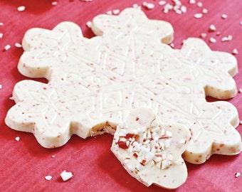 Snowflake Chocolate Candy Bar - Christmas Candy