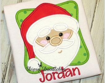 Santa Claus  - Santa Shirt - Christmas Shirt - Boys Christmas - Girls Christmas - Holiday Shirt - Pictures with Santa - Personalized Shirt
