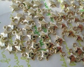 Acrylic Star charms 40pcs Gold color 8mm Star
