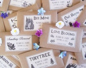 100 Flower Seed Wedding Favors - Wedding Seed Packets - Shabby Chic Wedding Favors - Wildflower Seed Favors - Rustic Wedding Favors