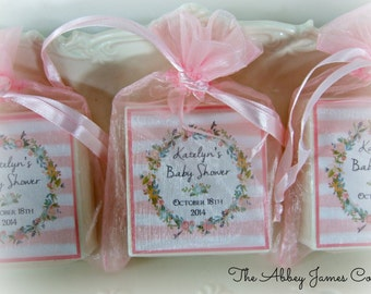 Baby Shower Favors, Bridal Shower, Soap Favors, wreath party favors set of 10