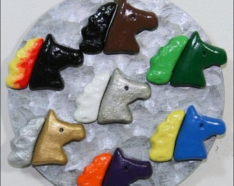 Six-Pack Custom Color Horse Head Magnets (Mix and Match!) - Kitchen or Office