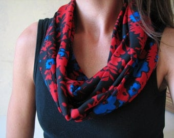 Red, Black and Blue Infinity Scarf