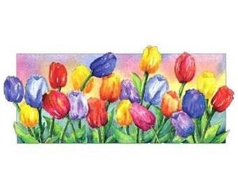 Tulip Women's Long Sleeve Tee Shirt OR Unisex Sweatshirt Plus Sizes Too! Sizes Small thru 3XL New