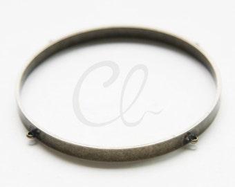 2 Pieces of Antique Brass Tone Brass Cuff Bracelets - Bangle 65x5mm (1802C-S-294)