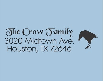 Custom Return Address Stamp Self Inking The Crow Family  Design 100-010