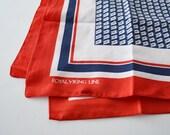 Ladies Scarf Vintage Scarf Viking Cruise Line Scarf Uniform Scarf