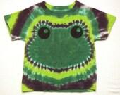 Green Frog Tie Dye Shirt Size 2