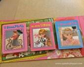Vintage Takara Licca 4th Generation Doll Set 10 Mini Picture Books of 3