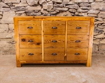 Old Bombay Reclaimed Pine 9 Drawer Dresser