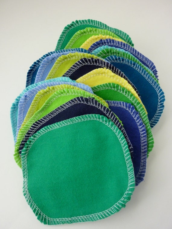 30 Cloth Wipes - Family Cloth - Reusable Cotton Rounds - Reusable Toilet Paper - Facial Rounds - Cloth Diaper Wipes - Skin Care - 4 x 5