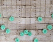 DIY Seafoam Green Tissue Paper Flower Wedding Garland, Photography Prop, Mint Party Decoration
