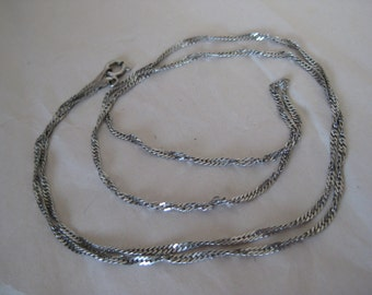 Sterling Spiral Chain Necklace Vintage 925 Silver