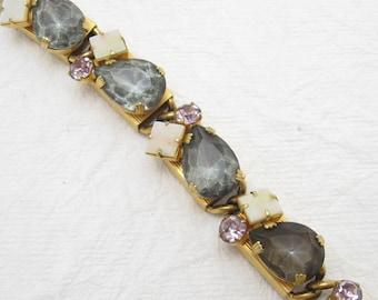 Vintage Rhinestone Bracelet Bold Vintage Jewelry B6480