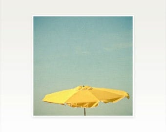 Beach Umbrella Photography, Summer Coastal Decor - Come Sit With Me