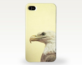 Eagle Eyed. Hard Case for iPhone 4/4s, 5/5s, 5c, 6, 6 Plus and Samsung Galaxy S3, S4. Bird of Prey Cover. Masculine Gift for Him
