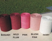3 inch Pink Burlap Ribbon - 3 yards