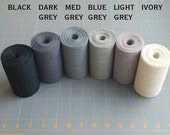 4 inch GREY BLACK or IVORY Burlap Ribbon