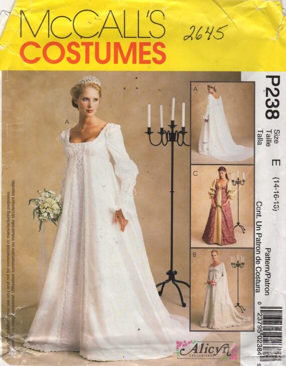 McCalls 2645 Misses Renissance Wedding Dress Pattern Alicyn