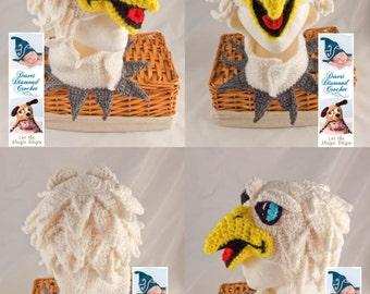 Crochet Pattern 096 - Swoop the Philadelphia Eagle Hat #2 - All Sizes