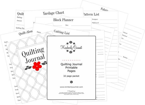 Free Printable Quilt Journal Pages