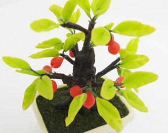 Miniature Polymer Clay Flowers Supplies Apple Bonsai 1 piece