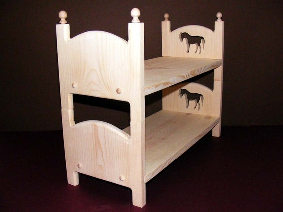 Stackable Doll Bunk Bed Two Single Horse Beds 18 Doll